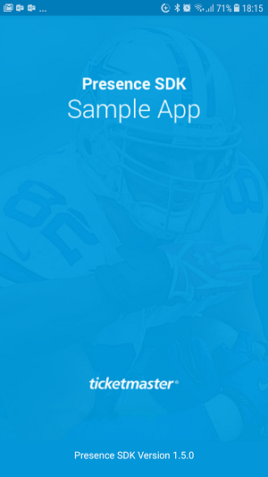 Android Presence SDK Sample App – The Ticketmaster Developer